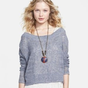 Free People These Days Open Knit Pullover